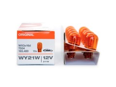 Авто-лампочка OSRAM WY21W 12v WX3X16D оранж. 7504