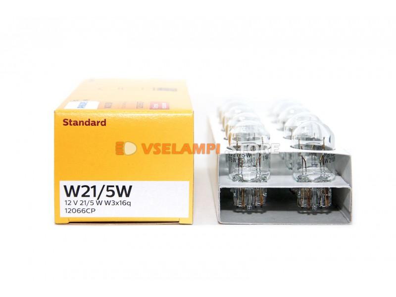 Авто-лампочка PHILIPS W21/5W 12v 21/5w (W3x16d) 12066CP