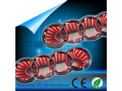 Светящиеся значки 3D AUDI Q5 18.5*6 красный
