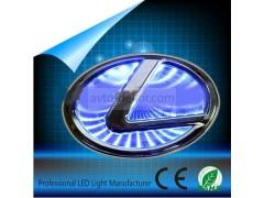 Светящиеся значки 3D LEXUS 10.5*7.5 белый
