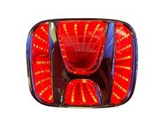 Светящиеся значки 3D HONDA FIT 9*7.5 красный