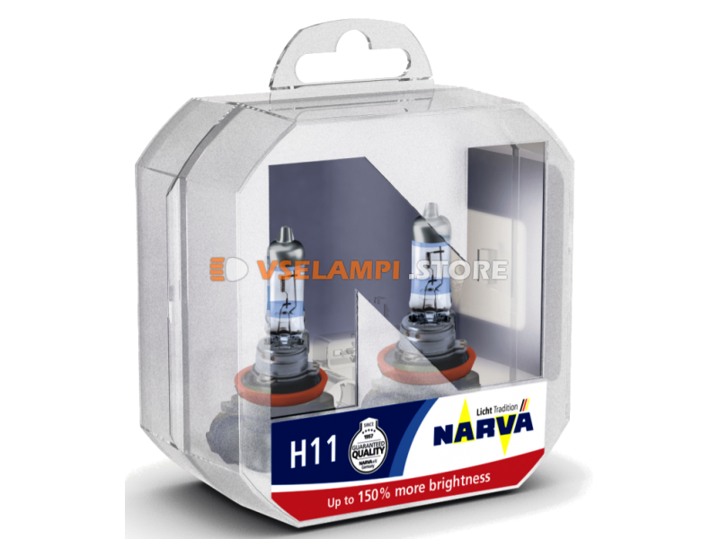 Галогенные лампы Narva - Range Power +150% комплект 2шт. - цоколь H11
