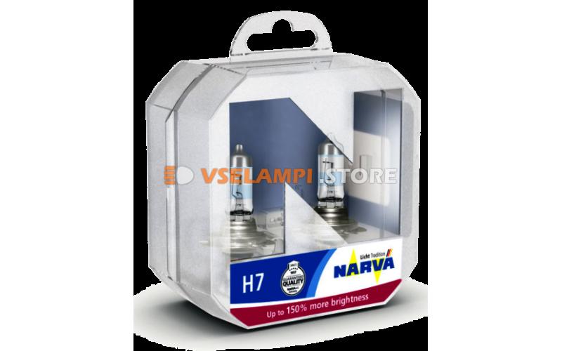 Галогенные лампы Narva - Range Power +150% комплект 2шт. - цоколь H7