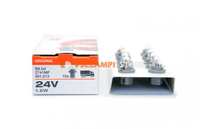 Авто-лампочка OSRAM 24v 1,2W B8.5d 2741MF