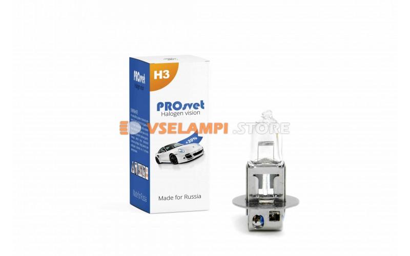 Галогенная лампа PROsvet Clear - цоколь H3 100