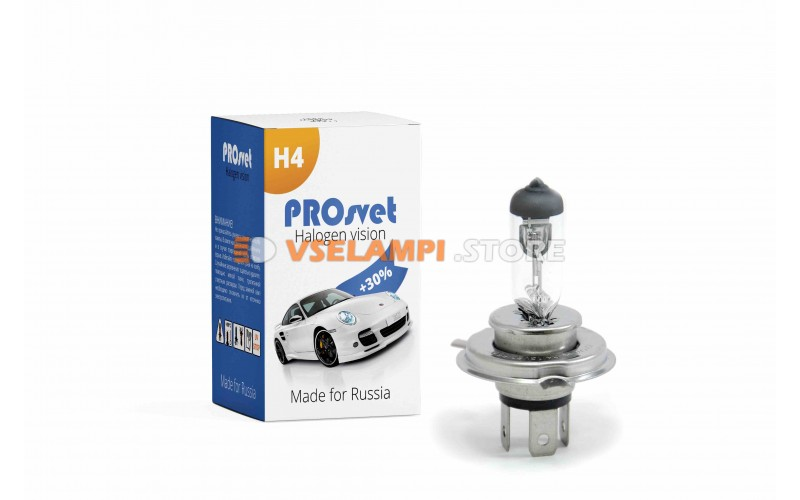 Галогенная лампа PROsvet Clear - цоколь H4 100/90