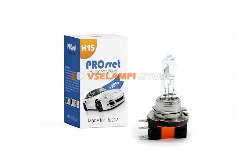 Галогенная лампа PROsvet Clear - цоколь H15
