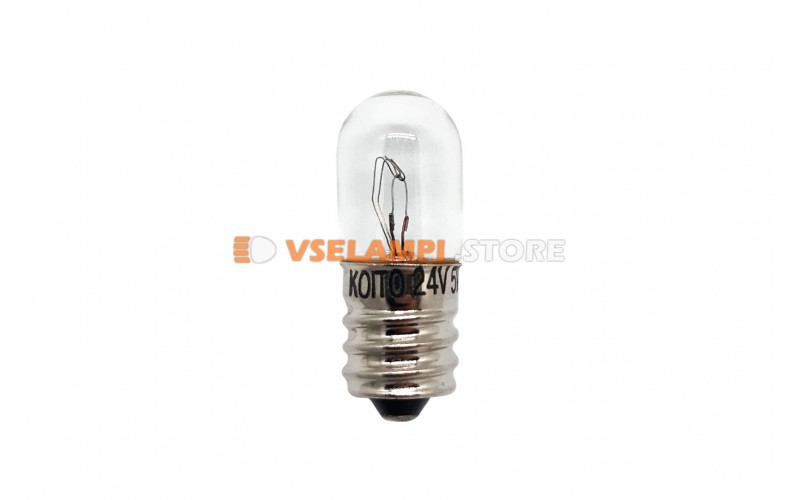 Лампа накаливания 1-контактная KOITO T13, 24v, 5w, цвет желтый, 1шт - 1461