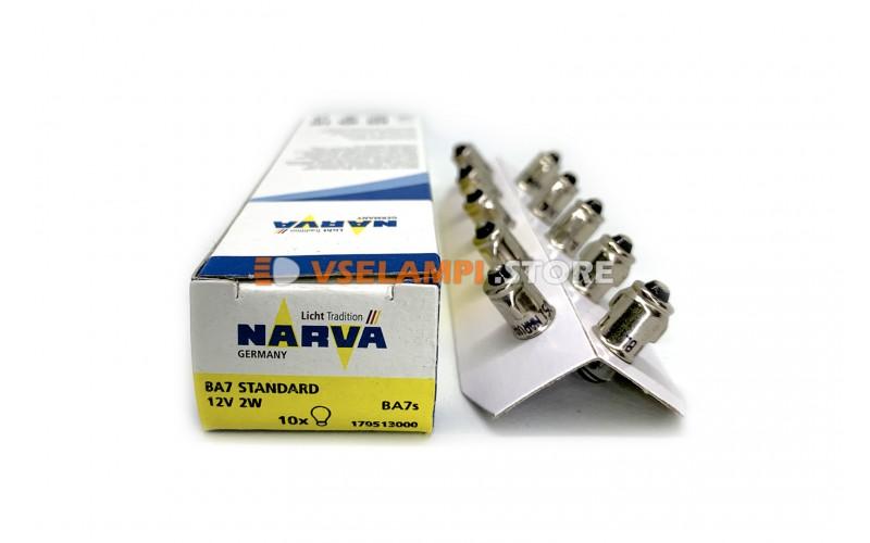 Лампа накаливания 1-контактная Narva T6.8 BAX (BA7s), 12v, 2w, цвет желтый, 1шт - 17051