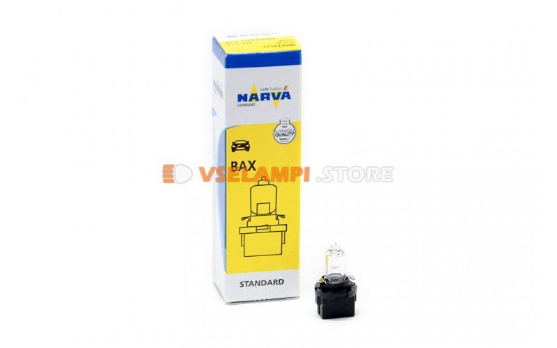 Лампа накаливания приборная Narva Brown Halogen W5W BAX (B10d), 12v, 5w, цвет желтый, 1шт - 17163