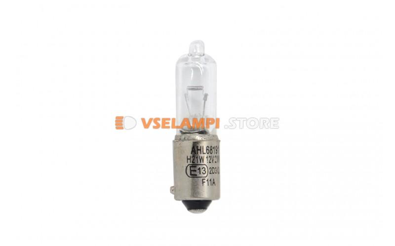 Лампа накаливания 1-контактная AHL H21W, 21w, 12v, цвет желтый, 1шт - 68191