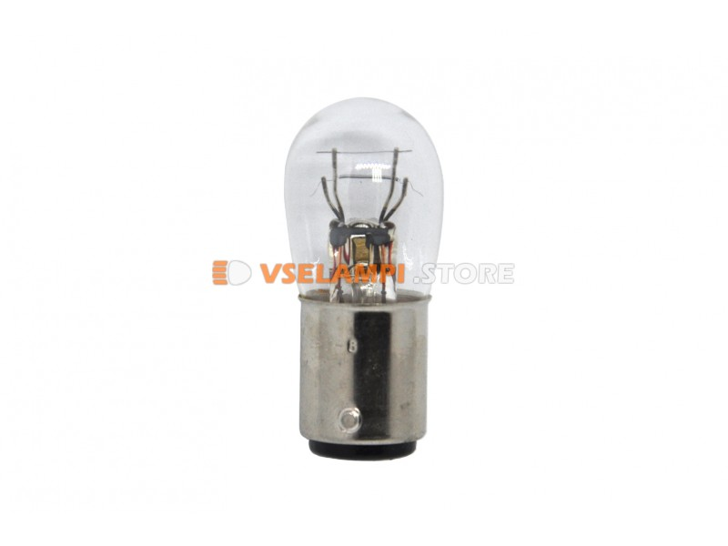 Лампа накаливания 2-контактная KOITO B19 P8/3.4W (BAY15d), 12v, 8/3.4w, цвет желтый, 1шт - 4970