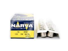 Авто-лампочка Narva R5W (BA15s), 1 конт, 12v, 5w, желтый