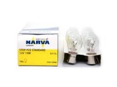Авто-лампочка Narva Stop P22 P15W (BA15s), 1 конт, 12v, 15w, желтый