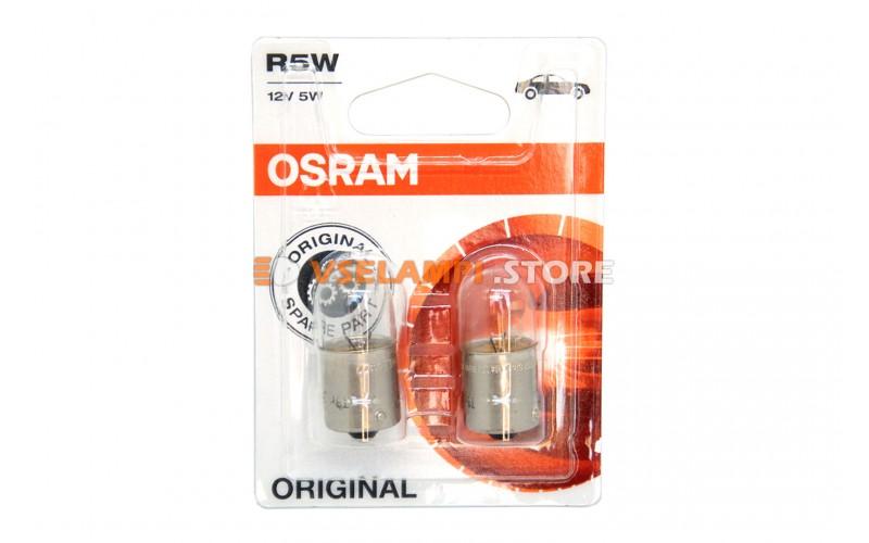 Авто-лампочка OSRAM R5W 12v (5w) BA15s 5007-02B