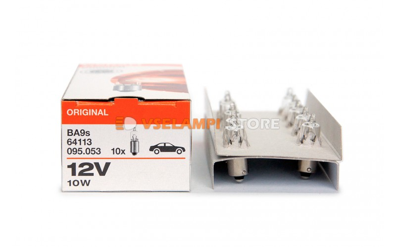 Авто-лампочка OSRAM H10W 12v (21w) BAY9s 64113 (галоген.)