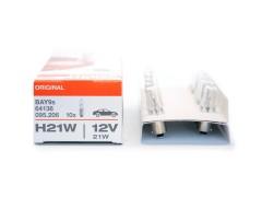 Авто-лампочка OSRAM H21W 12v (21w) BAY9s 64136 (галоген.)