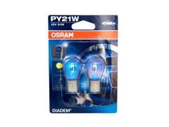 Авто-лампочка OSRAM PY 21w 12v (21w) BAU15s оранжевый 7507LDA-02В 2шт.