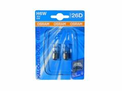 Авто-лампочка галогенная OSRAM H6W 12v (6w) BAX9s белого свечения 64132 (гал.) COOL BLUE-02B