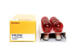 Авто-лампочка PHILIPS P21W 12v 21W (BAW15s) (красный) 12088СP RED