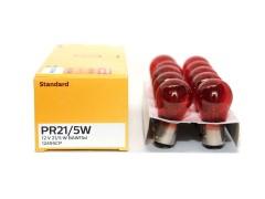 Авто-лампочка PHILIPS PR21/5W (BAW15d), 12V, 21/5W, RED 12495CP