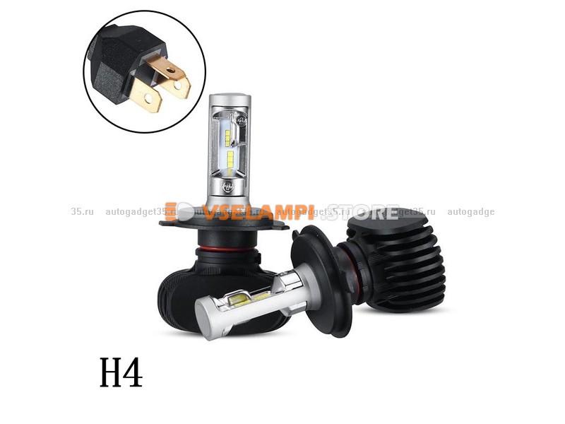 Сверх яркие светодиоды Avtodecor S1 6000k комплект 2шт. - цоколь HB3