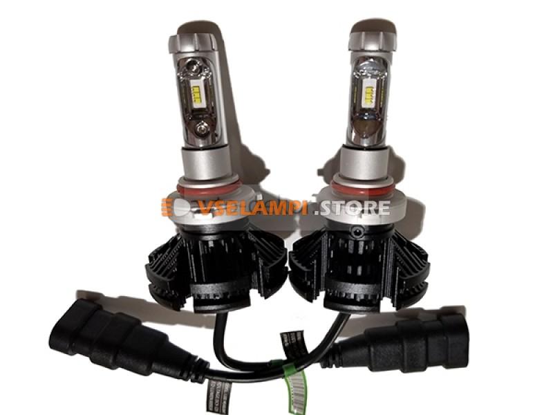Сверх яркие светодиоды LUMILEDS X3 6000Lm комплект 2шт. - цоколь H4
