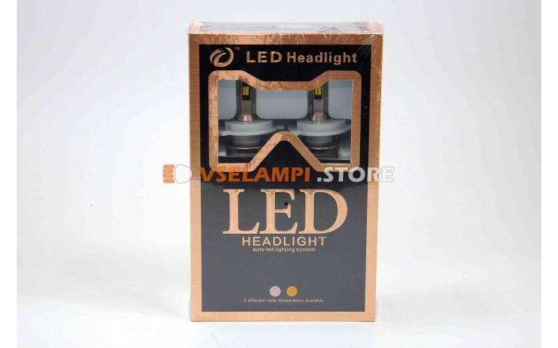 Светодиоды направленого свечения серия D, 5500Lm, Белый+Желтый цвет комплект 2шт.