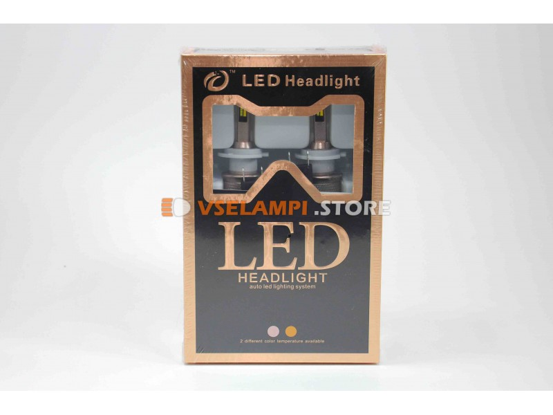 Светодиоды направленого свечения серия D, 5500Lm, Белый+Желтый цвет комплект 2шт. - цоколь H7