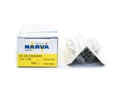 Авто-лампочка б/ц Narva W1.2W (W2x4.6d), 1 конт, 12v, 1.2w, желтый