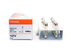 Авто-лампочка OSRAM C5W 12v(5w) SV8,5-8 двухцокольная 6413 41мм