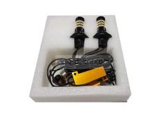 Светодиоды в ходовые огни 12-24v canbus с функцией поворотника 60 SMD+линза (30 оранжевый+30 белый диод с линзой) с эффектом затухания 2 шт в комплекте