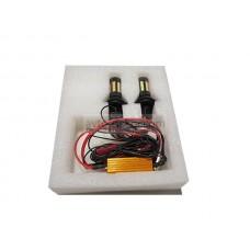 Светодиоды в ходовые огни 12-24v canbus с функцией поворотника 66 SMD+линза (33 оранжевый+33 белый диод с линзой) с эффектом затухания 2 шт в комплекте