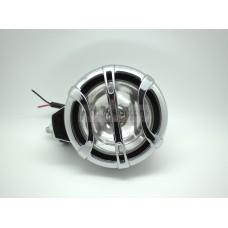 Фары противотуманные HY-104 (4х4) круглые (гладкое стекло) d 125мм со съемной крышкой