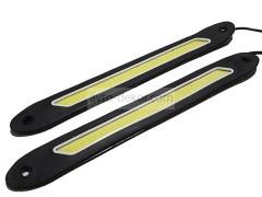 Ходовые огни 055 узкая длинная линия со скосом 260*30 мм (COB диод) гибкие резиновые