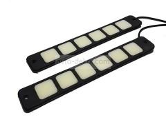 Ходовые огни 060 6 диодов 210*33 мм (COB диод) гибкие резиновые