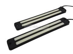 Ходовые огни 061 две линии 210*33 мм (COB диод) гибкие резиновые
