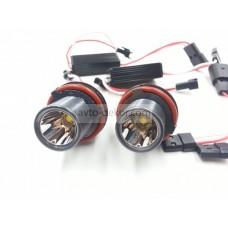 Светодиоды в ангельские глазки BMW E39 10w (для Е39, 82, 87, 60, 61, 63, 64, 65, 66, x3 E83, x5 E53 )(к-т. 2шт.) белый