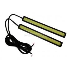 Ходовые огни 020 6W (COB диод) 174*16 мм чёрные 120 CHIP 6000K