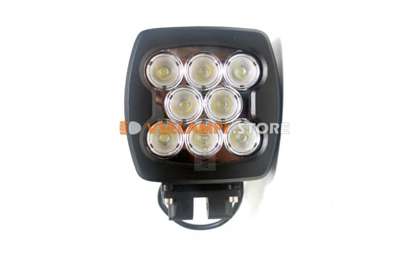 Прожектор квадратный 9-30V 80W 8SMD 140x140mm дальний, комбинированный
