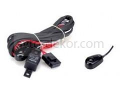 Провода для подключения 1 к-та светодиодных фар (провода+реле+предохранитель+кнопка) SLP-102