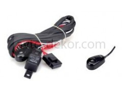 Провода для подключения 2х к-тов светодиодных фар (провода+реле+предохранитель+кнопка) SLP-101