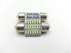 Светодиод 12v T11 31мм AC 21SMD, обманка, белый