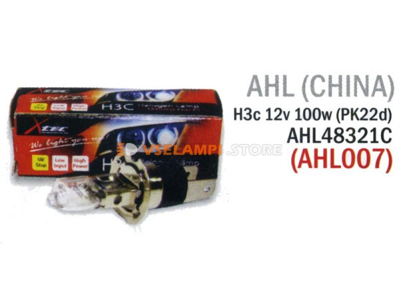 Галогеновая авто-лампа AHL повышенной яркости, 100w, 12v, цвет желтый, 1шт. - цоколь H4A