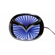 Светящиеся значки 3D MAZDA 6 10.1*7.9 белый