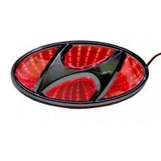 Светящиеся значки 3D HYUNDAI ELANTRA 13*6,4 красный