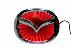 Светящиеся значки 3D MAZDA 6 10.1*7.9 красный