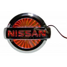 Светящиеся значки 3D NISSAN PRIMERA 10,6*9 красный