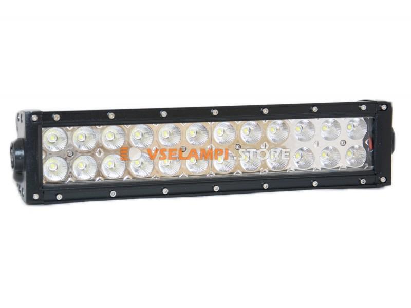 Прожектор 9-32V 72W 24SMD 340x80mm - тип свечения ближний