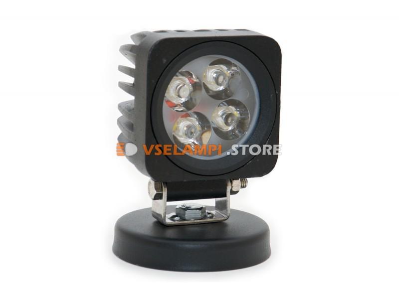 Прожектор 9-32v 12W 4SMD 65x65mm - тип свечения ближний